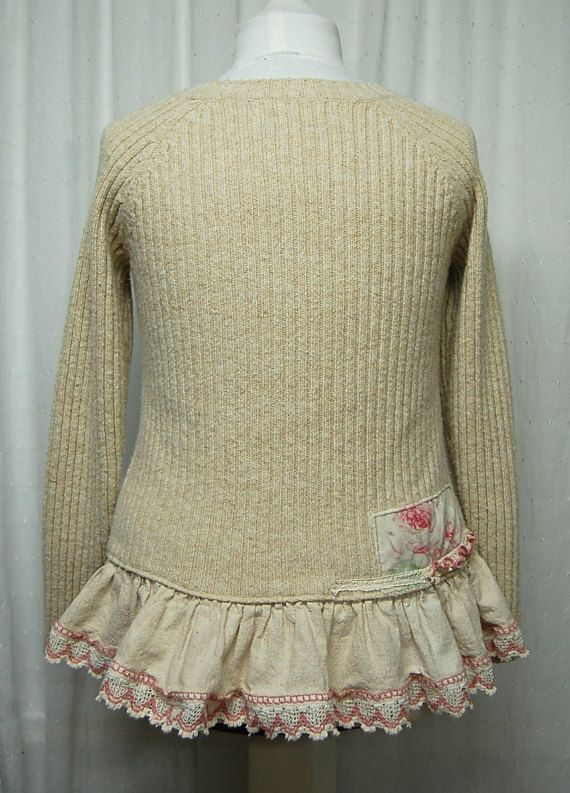 Up to Size Medium Mori Girl Style Sweater Artsy by PrimitiveFringe