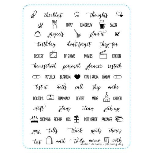 Atelier Dreams PLANNING DAY Clear Stamp Set ad024