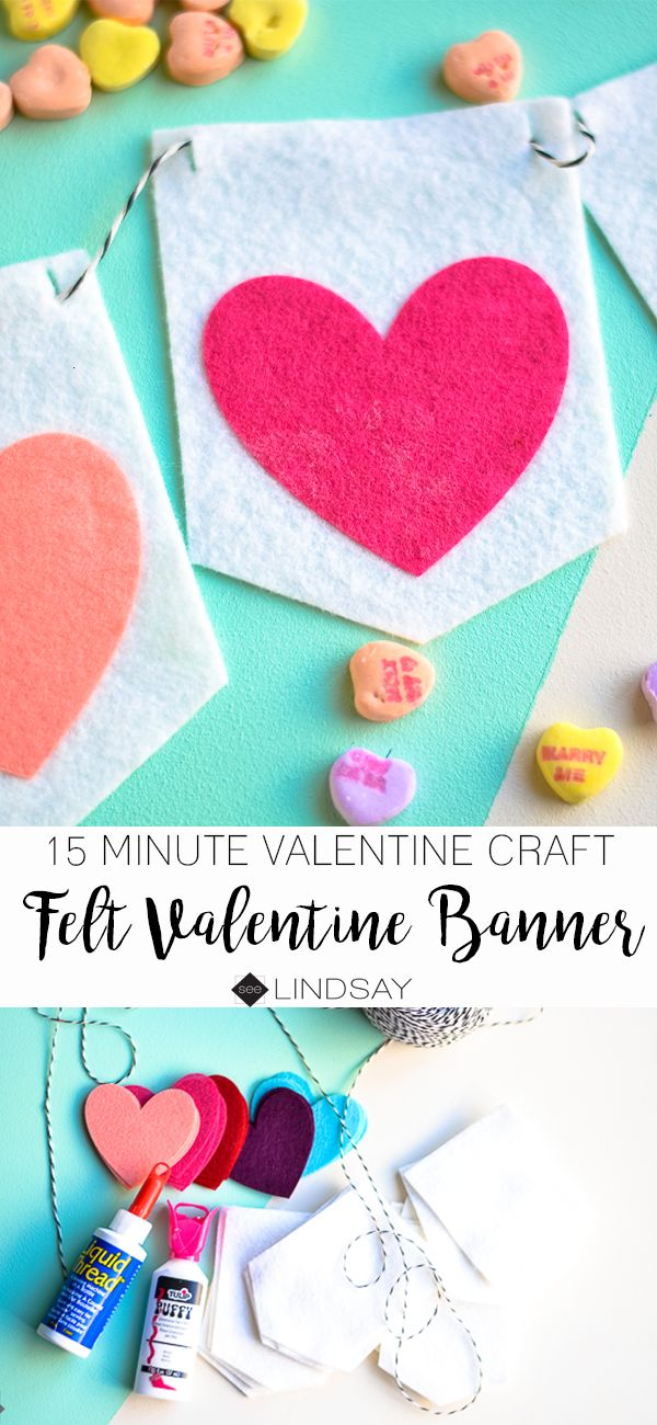 This DIY Felt Valentine banner is so easy to create. Use your Cricut Maker to cut the felt and assemble it within 15 minutes.