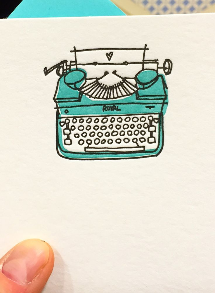 Alanna Cavanagh Typewriter note cards for Papyrus Spring 2016 #illustration #typewriter