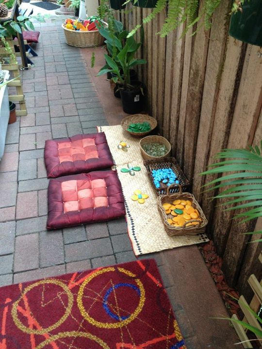 A space to create outdoors at Puzzles Family Day Care