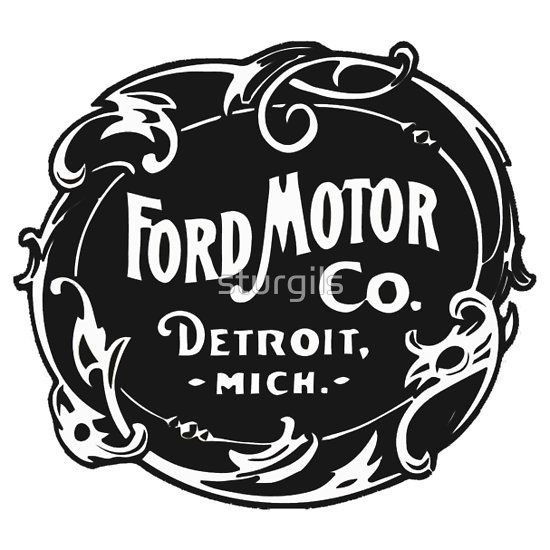 Vintage ford motor company logo old school shirts for Ford motor company detroit mi
