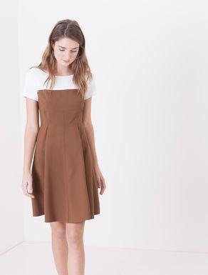 Two-tone cady corolla dress