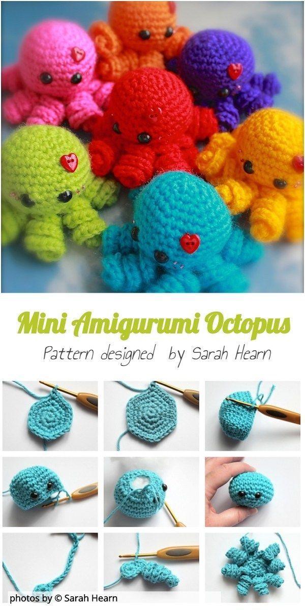 Mini Amigurumi Octopus Pattern Toy Idea Crochet Amigurumitoy Amigurumi Mini In 2020 Octopus Crochet Pattern Crochet Octopus Cute Crochet