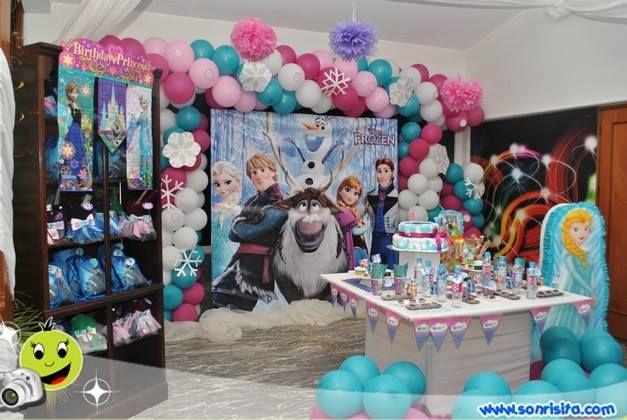 Decoracion fiesta frozen mis decoraciones de fiesta - Decoraciones para cumpleanos infantiles ...