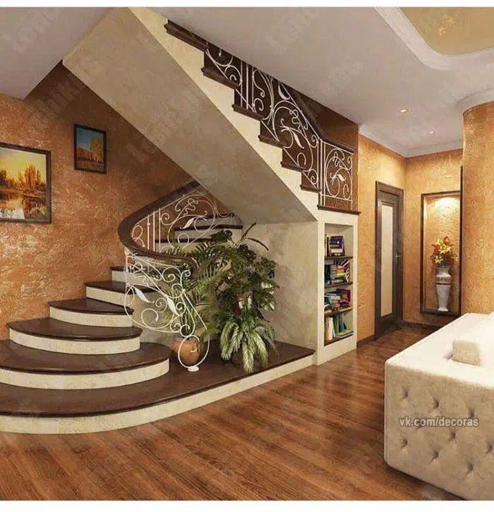 Inpirasi Tangga Rumah Dan Ruang Terunik Desain Tangga Modern Desain Depan Rumah Desain Rumah Bungalow House plan with interior staircase