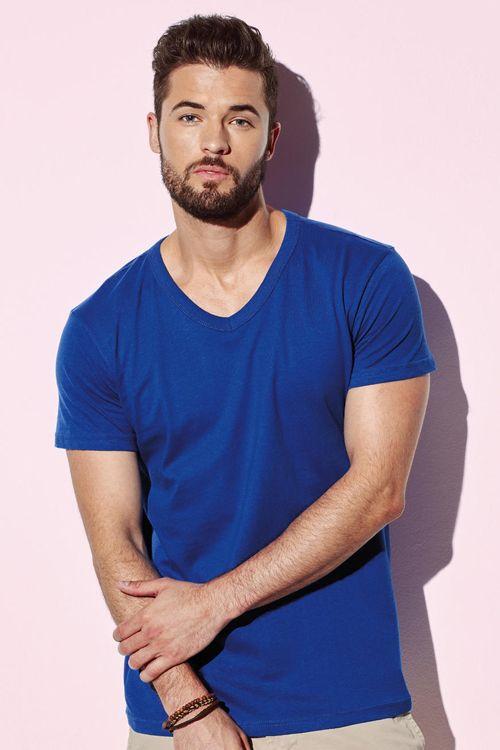 Tricou de bărbați Ben Stedman cu decolteu în formă de V din 100% bumbac ring spun #tricouri #stedman #personalizate #imprimate