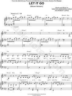 Let It Go (Movie Version) From Frozen - Digital Sheet Music @Laura Jayson Jayson Jayson Mcfarlane R