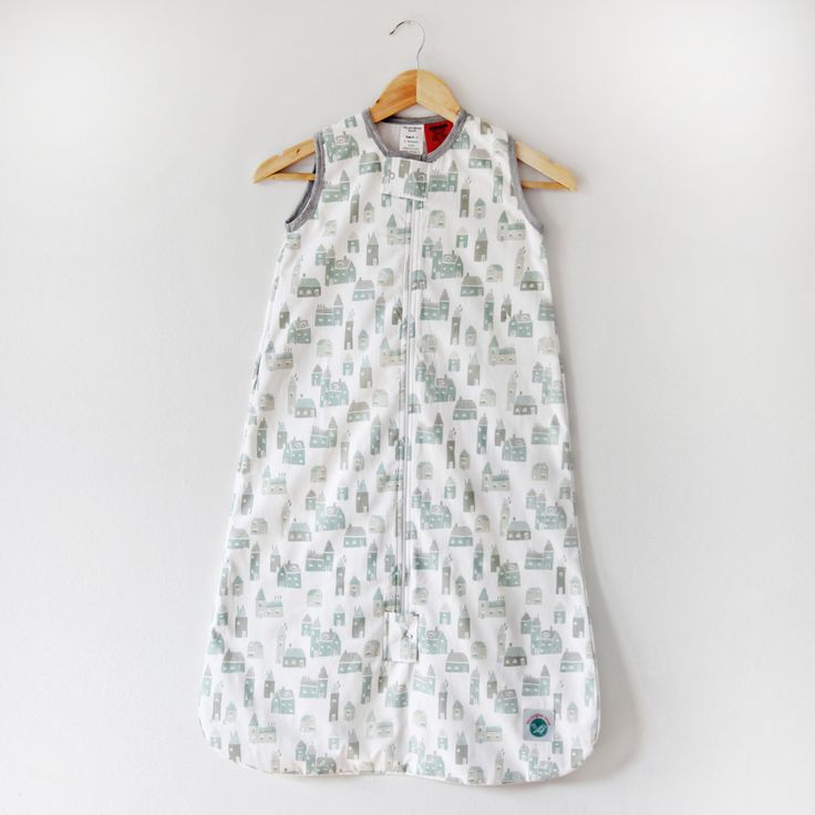 Organic Cotton Baby Sleep Bag - Village. from Mockingbird Street