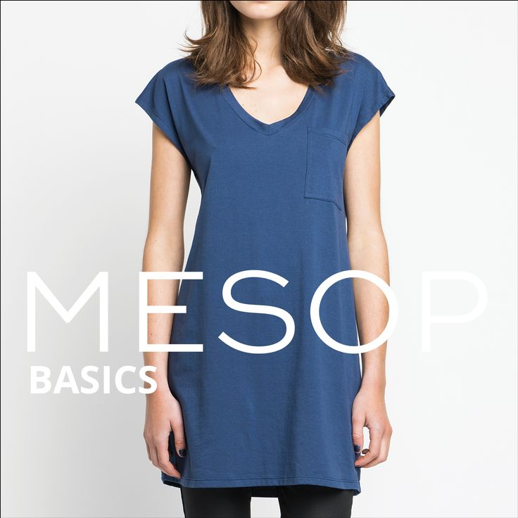 Mesop Basics Organic Cotton V-Neck Dress | Autumn 2016 Collection 'Elemental www.mesop.com