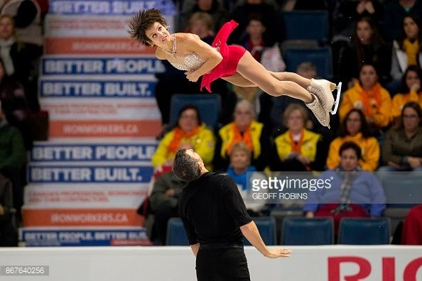 Meagan Duhamel and Eric Radford of Canada perform their free skate in the pairs competition at the 2017 Skate Canada International ISU Grand Prix event in Regina, Saskatchewan, October 28, 2017. /...