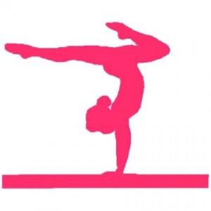 simple silhouette gymnastics girl gymnastics meet treat