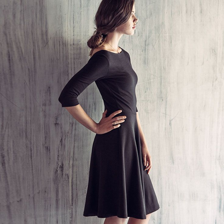 Your closet's secret weapon is an LBD. You can dress it up or down for any occasion.Black