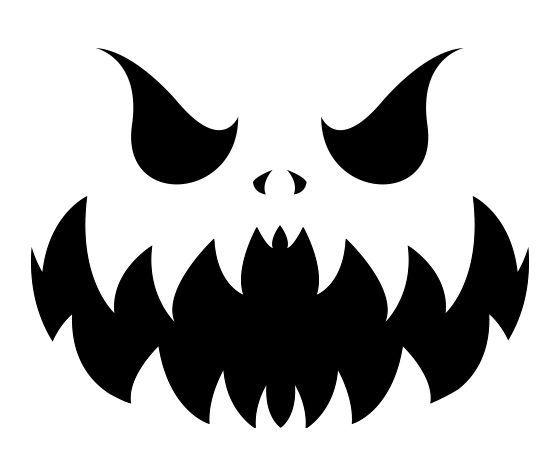 16 best ghost faces images on pinterest halloween crafts for Evil pumpkin face template
