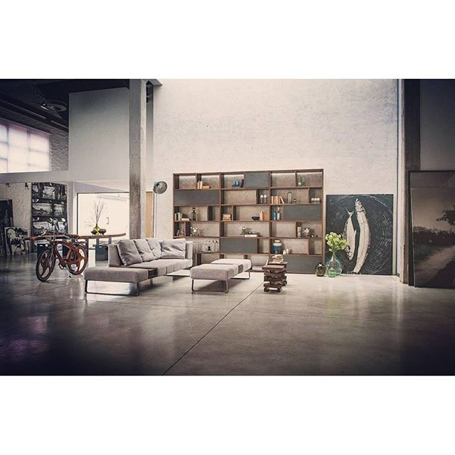 Get inspired by an open-plan living room in industrial style with @riva1920 •• •• •• •• •• •• •• •• •• •• •• •• •• •• •• #livinginspiration #industrialstyle #designbestmagazine
