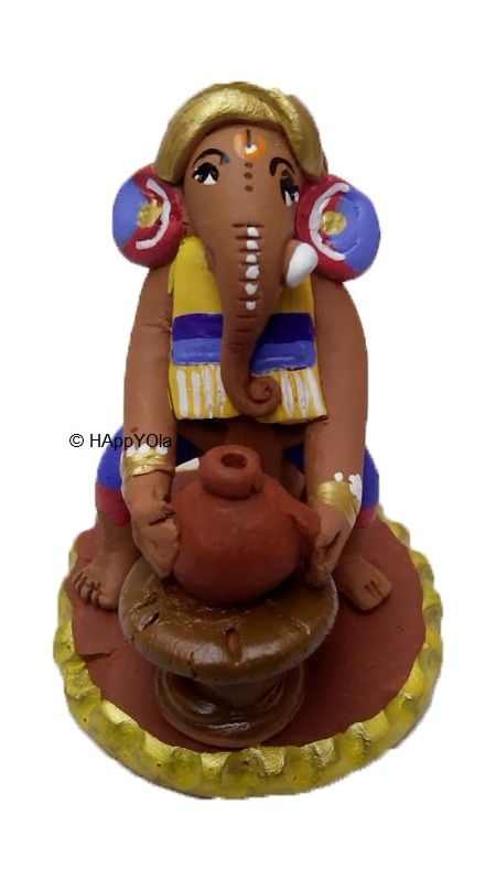 Eco-friendly terracotta cute ganesha. Find amazing beautiful and unique Ganesha, made with terracotta and hand painted .