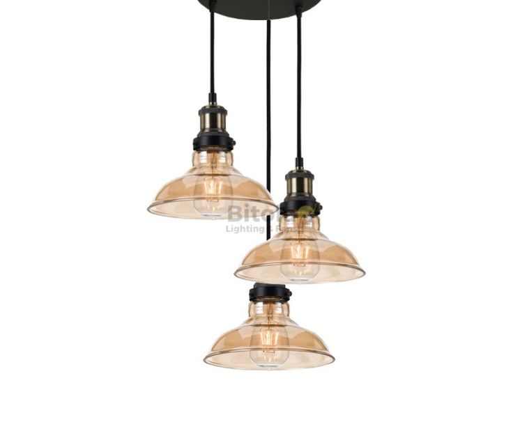 Telbix+Hertel+20+3+Light+Cluster+Ceiling+Pendant+Black/Amber+Glass+**CUSTOM**, $399.00