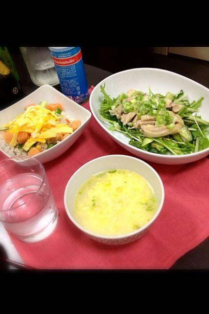 七夕にちなんで、ちらし寿司と激ウマ茹で鶏と、そのスープ♪ - 3件のもぐもぐ - 七夕ディナー★ by masami1112