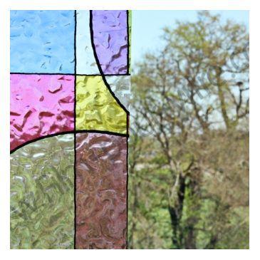 Frise vitrostatique décorative géométrique