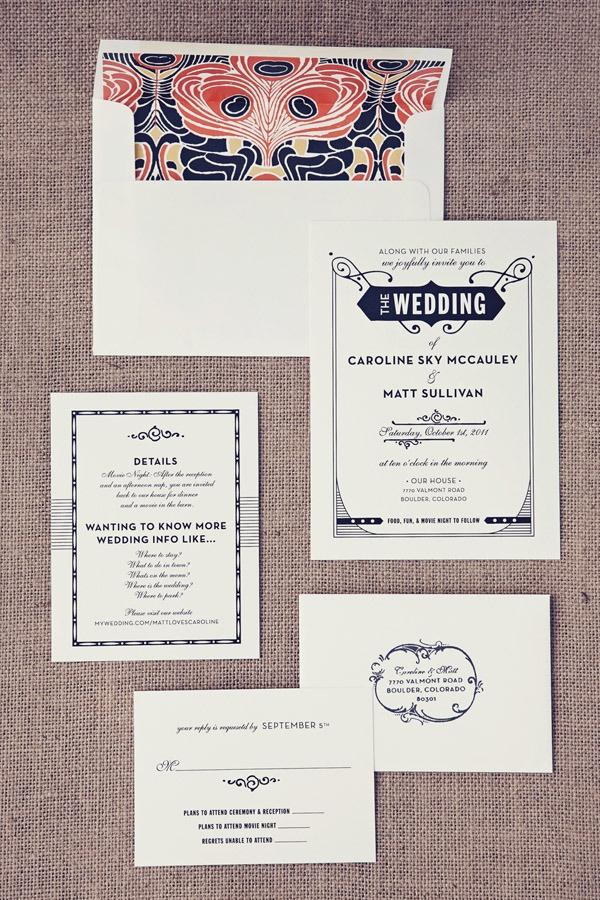 Gatsby wedding invitations- Art Deco here we come!