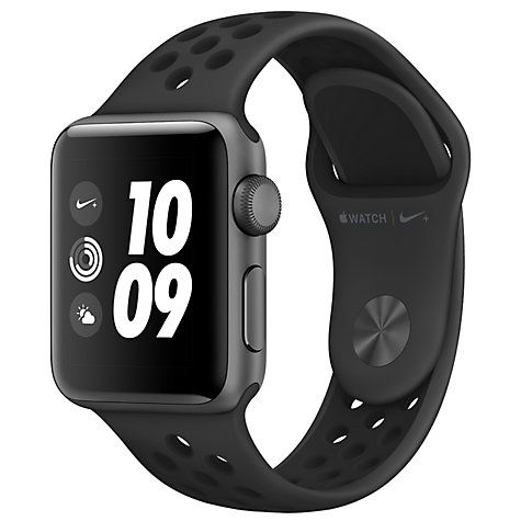 Buy Apple Watch Nike+, GPS, 38mm Space Grey Aluminium Case with Nike Sport Band, Anthracite / Black Online at johnlewis.com