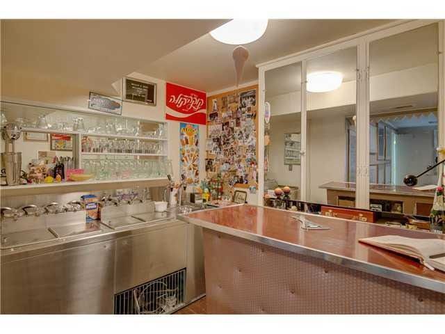 Basement with ICE CREAM parlor in time capsule home!