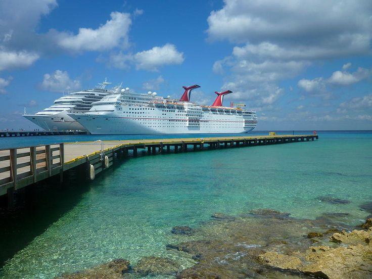 Fun Ships docked in Cozumel.