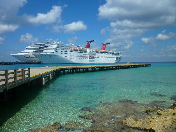 Fun Ships docked in Cozumel.