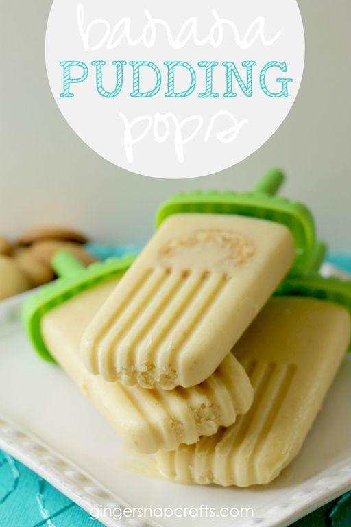 Banana Pudding Pops at GingerSnapCrafts.com #popsicle #summer #recipe