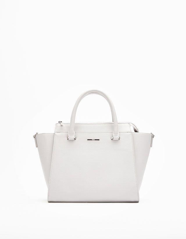 Zipped Medium Tote Bag from Bershka £22,99