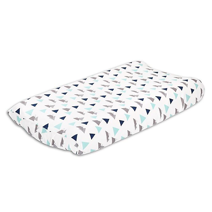 The Peanutshell Woodland Trails Changing Pad Cover In Blue Green In 2020 Changing Pad Cover Changing Table Pad Cover Pad Cover