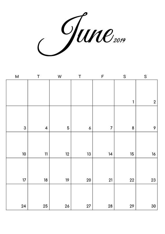 Free Printable Calendar July August 2019 Black And White