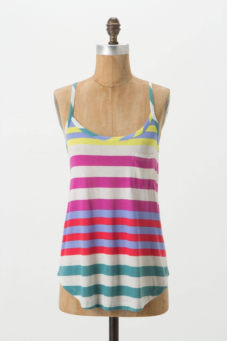 Fun summer tank at Anthro that would look great with white skinny jeans