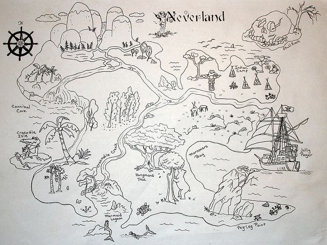 Free Printable Map of Neverland | ... Collection Galleries World Map App Garden Camera Finder Flickr Blog