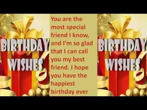 Happy Birthday My Friend   Online E Greeting Card   Happy Birthday Quotes Video Greeting Card - YouTube