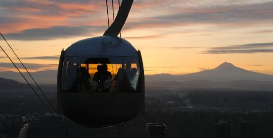 For $4 to ride the Portland Aerial Tram, you get amazing views of Oregon. THe trams operates in downtown Portland and travels 3,300 linear feet.