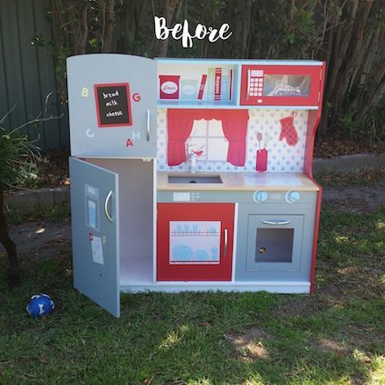 Before and After: A Kmart Wooden Play Kitchen Hack - My Natural Baby