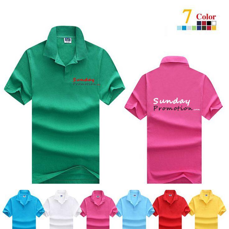 35% Cotton 7-oz Plain Color Custom Polo Shirts - www.sundaypromotion.com