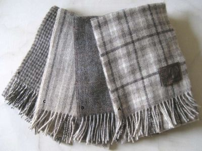A Jacob sheep wool scarf is the smartest accessory and ...