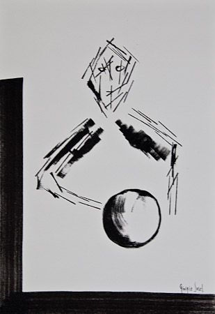 circle, order and disorder, 2006, enamel on canvas panel, 35x50 cm