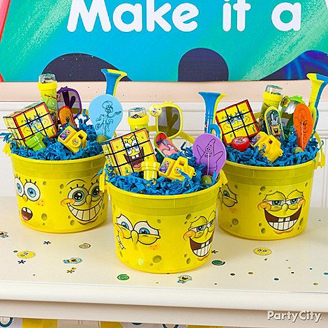 SpongeBob Party Ideas: Favors - Click to View Larger