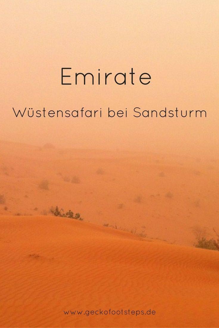 In den Emiraten erlebten wir eine Wüstensafari der besonderen Art: Es zog ein Sandsturm auf, der den Himmel feuerrot färbte.