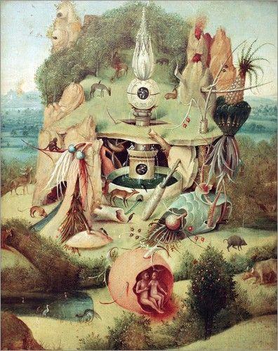 Jerome Bosch : Le Jardin des délices, (détail)   Museo del Prado