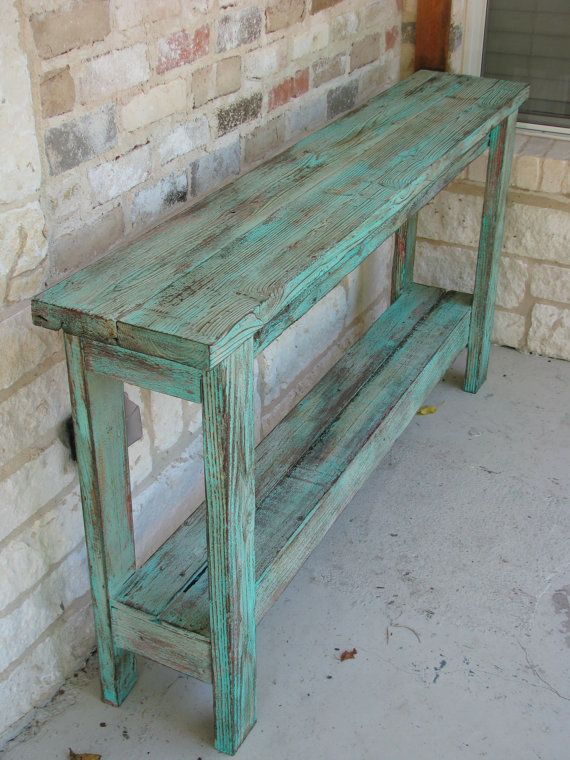 ON SALE Rustic Sofa Table Wall Table Decor by DougAndCristyDesigns