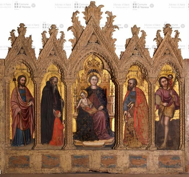 Attributed to Altichiero (news 1369-1384), Altarpiece Boi, third quarter of the fourteenth century, tempera on panel: