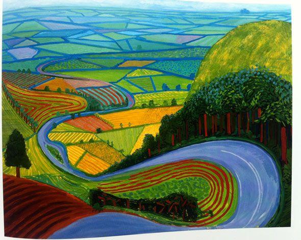 David Hockney david-hockney-landscape. Yorkshire