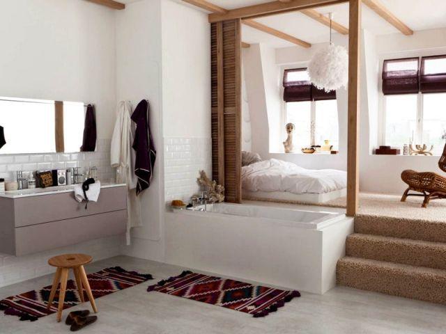 Suite Parentale 10 Solutions Pour Separer La Chambre De La Salle De Bains Suite Parentale Salle De Bain Deco Chambre Parental Et Idee Deco Chambre