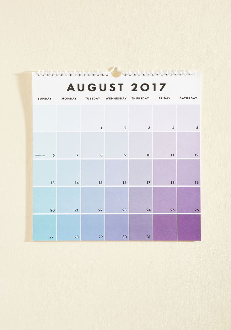 Tone Day at a Time 2016-2017 Wall Calendar. Keep track of your daily doings on this vibrant 17-month calendar. *affiliate*