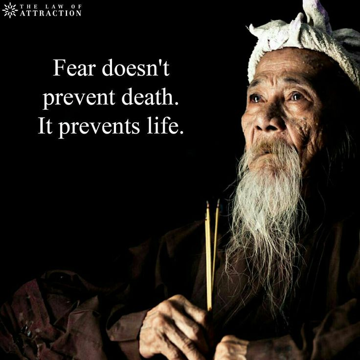 Fear doesn't prevent death. It prevents life.