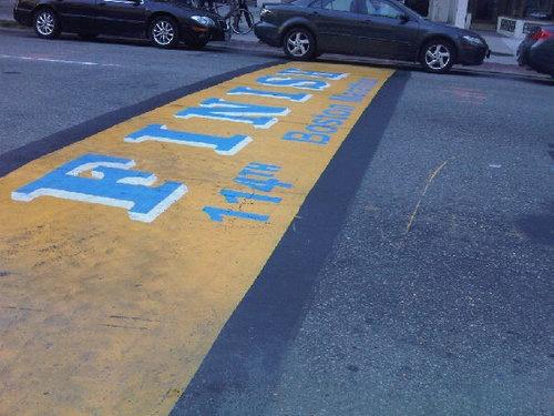 Boston 2010: finish line of the Marathon